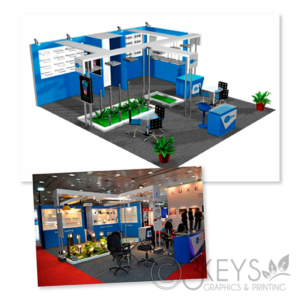 Trade show booth visual design
